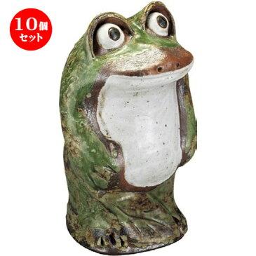 10個セット☆ 置物 ☆ 出目立ち蛙 (大) [ 170 x 290mm ] 【インテリア 置物 かわいい カエル 】