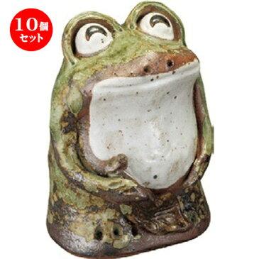 10個セット☆ 置物 ☆ わらい立ち蛙 (大) [ 170 x 290mm ] 【インテリア 置物 かわいい カエル 】