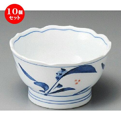 10個セット ☆ 小鉢 ☆ 清里桔梗型3.6丼 [ 103 x 60mm ]