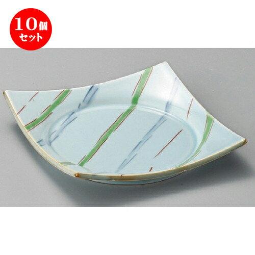 10個セット☆ 正角皿 ☆ 流し十草前菜皿 [ 175 x 175 x 30mm ]