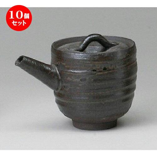 10個セット☆ 調味料入 ☆ 黒釉汁次(手造り) [ 170cc ]