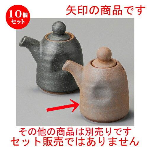 10個セット☆ 調味料入 ☆ 備前風ミニ汁次縦型 [ 75 x 55 x 80mm・70cc ]