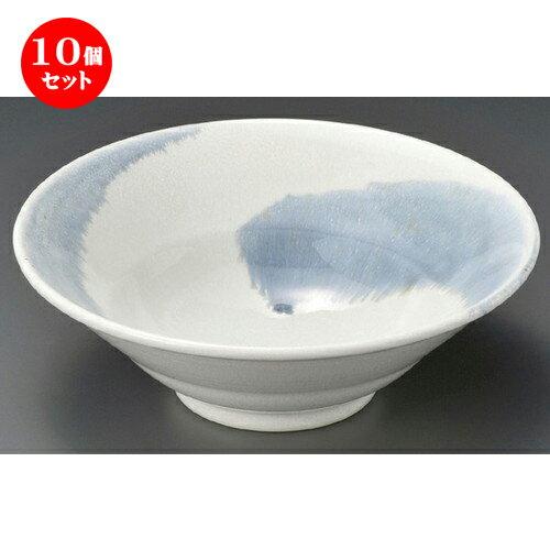 10個セット☆ 麺丼 ☆ 巴ハケメ6.5二重丼 [ 202 x 72mm ]