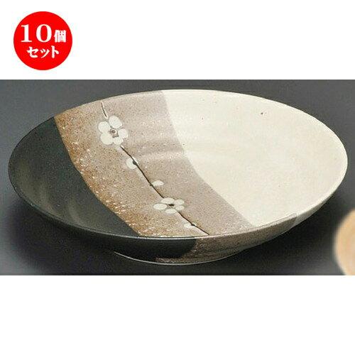 10個セット☆ 麺皿 ☆ 梅一重7.5麺皿 [ 230 x 52mm ] 【蕎麦屋 定食屋 和食器 飲食店 業務用 】