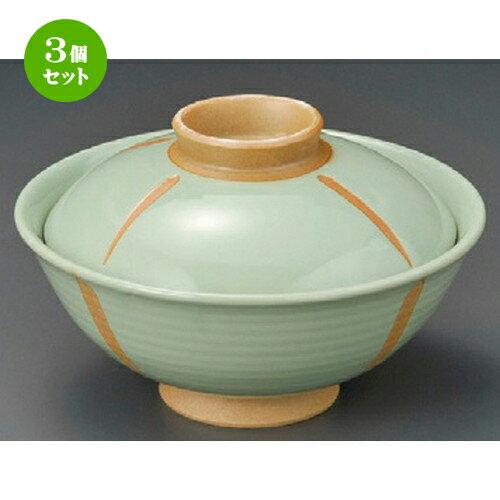 3個セット☆ 蓋丼 ☆ グリンのり茶 [ 145 x 95mm ]