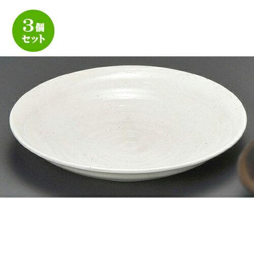 3個セット☆ 麺皿 ☆ そば白たたき8.0深丸皿 [ 240 x 45mm ] 【蕎麦屋 定食屋 和食器 飲食店 業務用 】