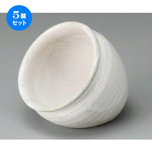 5個セット☆ 小鉢 ☆ 荒土白釉 たこ壷 [ 100 x 80mm ]