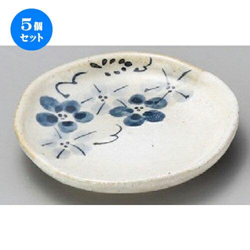 5個セット☆ 小皿 ☆ 雪化粧藍花3.3丸皿 [ 98 x 19mm ]