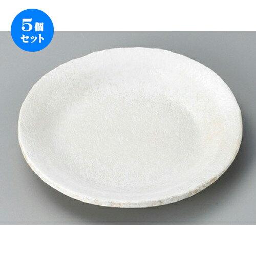 5個セット☆ 丸皿 ☆ 白吹雪布目7.0丸皿 [ 206 x 29mm ] 【料亭 旅館 和食器 飲食店 業務用 】