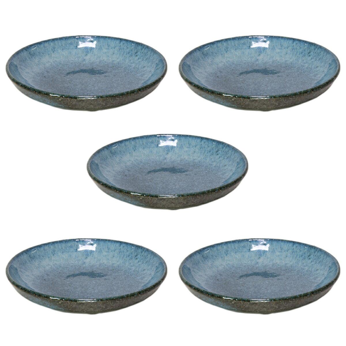 5個セット☆ 丸皿 ☆ 青雲石6.0おでん皿 [ 185 x 40mm ] 【料亭 旅館 和食器 飲食店 業務用 】