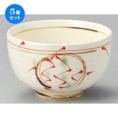 5個セット☆ 丼 ☆ 一珍紅丸紋夏目4.5丼 [ 128 x 78mm ]