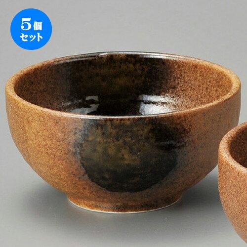 5個セット☆ 丼 ☆ 伊賀織部石目4.2丼 [ 130 x 77mm ]