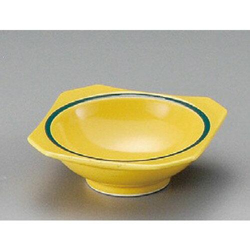 ☆ 珍味 ☆ 黄釉グリーン帯隅切珍味 [ 83 x 29mm ]