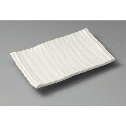 10個セット☆ 焼物皿 ☆ 白釉焼物皿 [ 210 x 130 x 25mm ] 【料亭 旅館 和食器 飲食店 業務用 】