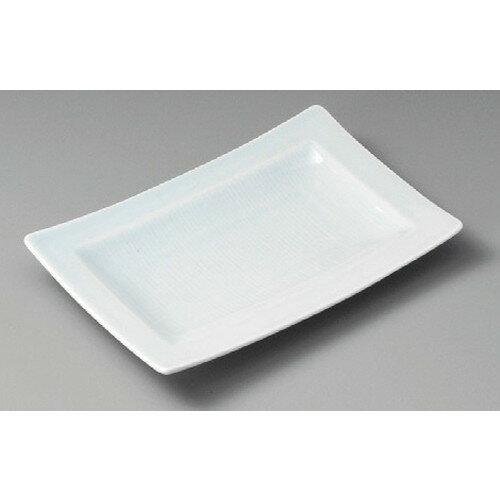3個セット☆ 焼物皿 ☆ 青白千段長角皿 [ 220 x 148 x 30mm ] 【料亭 旅館 和食器 飲食店 業務用 】