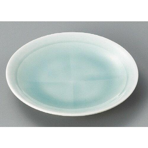 10個セット☆ 丸皿 ☆ 十字青白磁4.0皿 [ 125 x 20mm ] 【料亭 旅館 和食器 飲食店 業務用 】