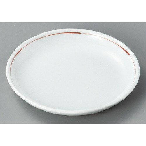 10個セット☆ 丸皿 ☆ 赤ライン5.0丸皿 [ 155 x 15mm ] 【料亭 旅館 和食器 飲食店 業務用 】