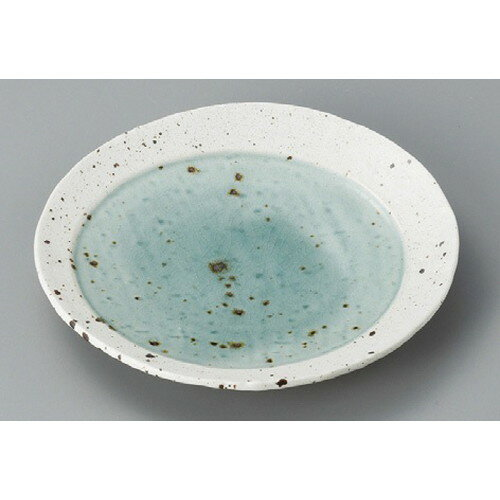 10個セット☆ 丸皿 ☆ 湖水グリーン20cm丸皿 [ 205 x 28mm ] 【料亭 旅館 和食器 飲食店 業務用 】