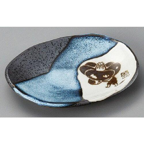 10個セット☆ 丸皿 ☆ EIZO青流小皿 [ 155 x 121 x 20mm ] 【料亭 旅館 和食器 飲食店 業務用 】