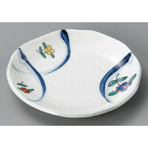 10個セット☆ 丸皿 ☆ 錦花紋フルーツ皿 [ 154 x 17mm ] 【料亭 旅館 和食器 飲食店 業務用 】