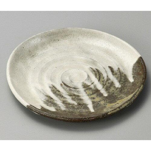 3個セット☆ 組皿 ☆ 灰釉粉引6.0丸皿 [ 180 x 15mm ]