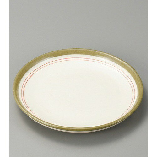 10個セット☆ 組皿 ☆ 赤ライン4.0平皿 [ 150 x 20mm ] 【料亭 旅館 和食器 飲食店 業務用 】