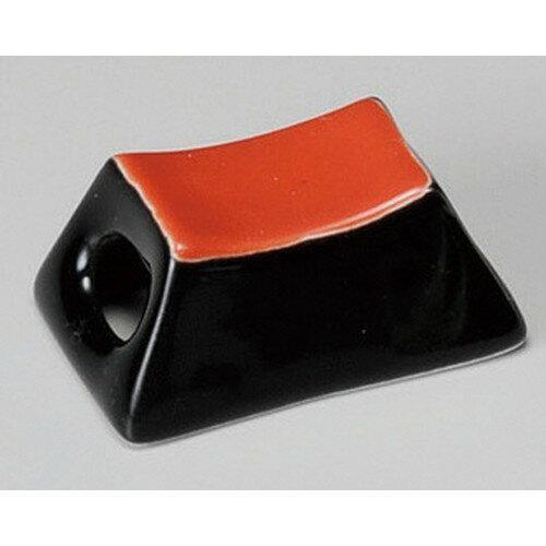 3個セット ☆ 箸置 ☆ 筐塗分赤黒箸衣 [ 44 x 17 x 18mm ]