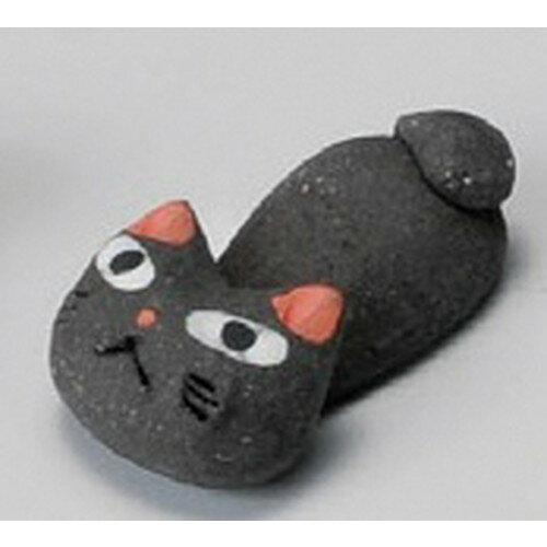 3個セット☆ 箸置 ☆ 手造り猫黒箸置 [ 40mm ]