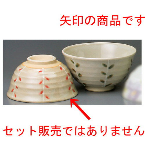 5個セット☆ 夫婦飯碗 ☆ 新芽十草赤中平 [ 116 x 62mm ]