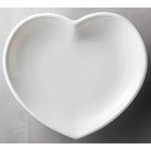 10個セット☆ 洋食器 ☆ 白磁ハート皿(中) [ 158 x 132 x 22mm ] 【レストラン ホテル 飲食店 洋食器 業務用 】