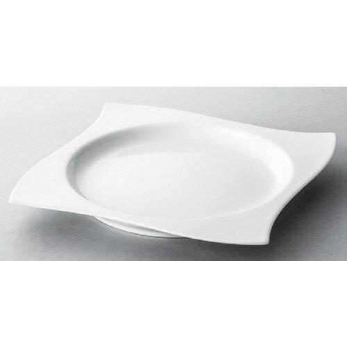 5個セット☆ 洋食器 ☆ 白磁9.5吋ウェーブ満月プレート [ 245 x 33mm ] 【レストラン ホテル 飲食店 洋食器 業務用 】