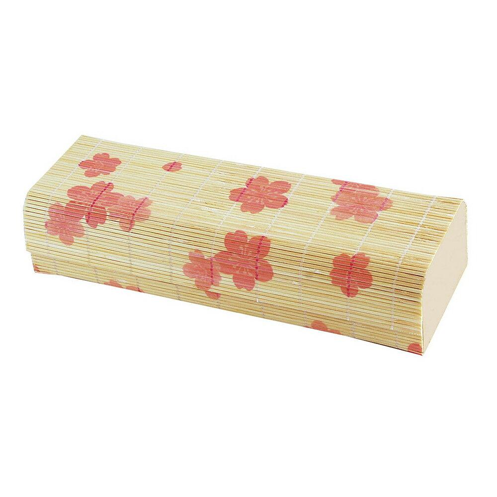 ☆ 木製品 ☆ 新すだれ弁当桜柄 (小) [ 228 x 78 x 52mm ]