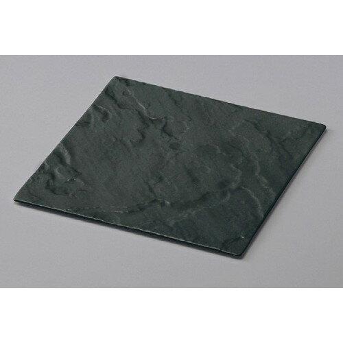 10個セット☆ メラミン食器 ☆ (M)(メラミン)フュージョンスクウェアプレート ブラック [ 269 x 269 x 8mm ]