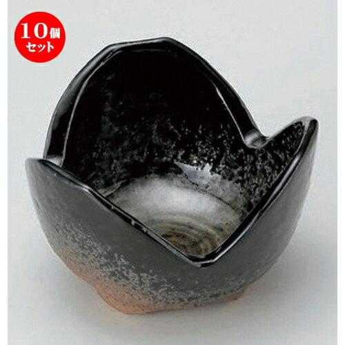 10個セット ☆ 組小鉢 ☆黒緑彩三つ切3.0小鉢 [ 7.8 x 5.2cm 180g ]