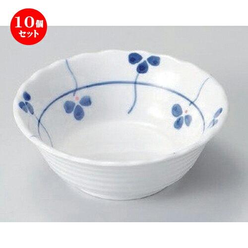10個セット ☆ 組小鉢 ☆三つ葉3.5花型小鉢 [ 10.3 x 3.7cm 120g ]