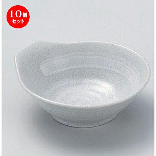 10個セット☆ 呑水 ☆グレー粉引白刷毛新とんすい [ 13.2 x 12.4 x 4.6cm 184g ]