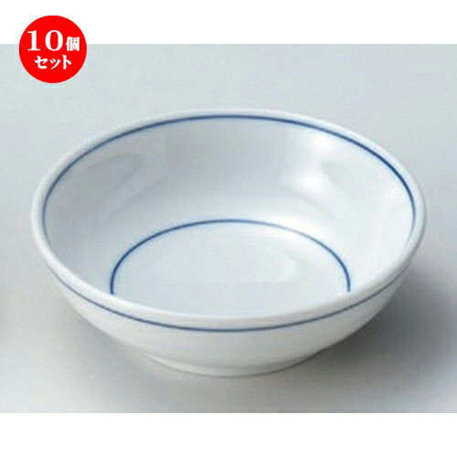 10個セット☆ 松花堂 ☆青ライン丸鉢 [ 11 x 3.5cm 142g ]