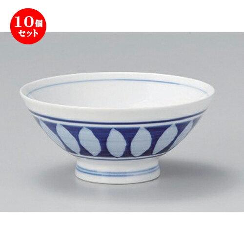 10個セット☆ 飯碗 ☆間取帯中平 [ 11.6 x 5.2cm 155g ]