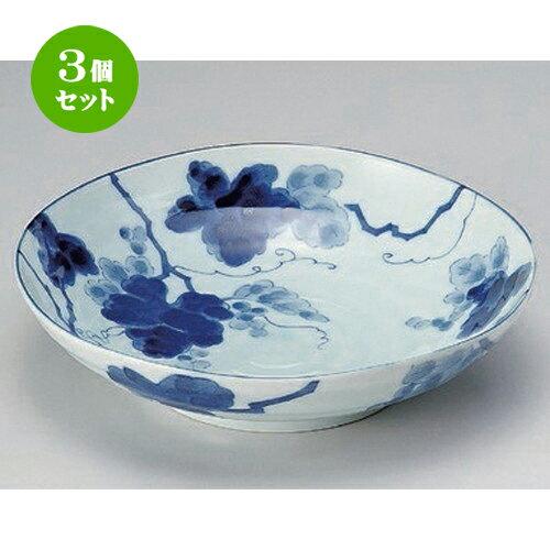 3個セット☆ 組鉢 ☆藍染ぶどう5.5浅鉢 [ 17 x 5cm 285g ] 【 料亭 旅館 和食器 飲食店 業務用 】