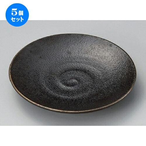 5個セット☆ 丸皿 ☆いぶし金6.0皿 [ 18.8 x 2.8cm 403g ]