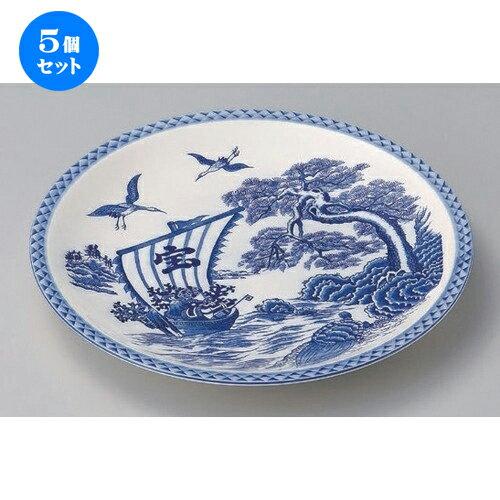 5個セット☆ 萬古焼大皿 ☆宝船10.0丸皿 [ 32 x 3.5cm 900g ] 【 料亭 旅館 和食器 飲食店 業務用 】