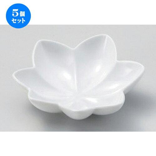 5個セット☆ 松花堂 ☆紅葉 白浅鉢 [ 12 x 3.1cm 131g ]