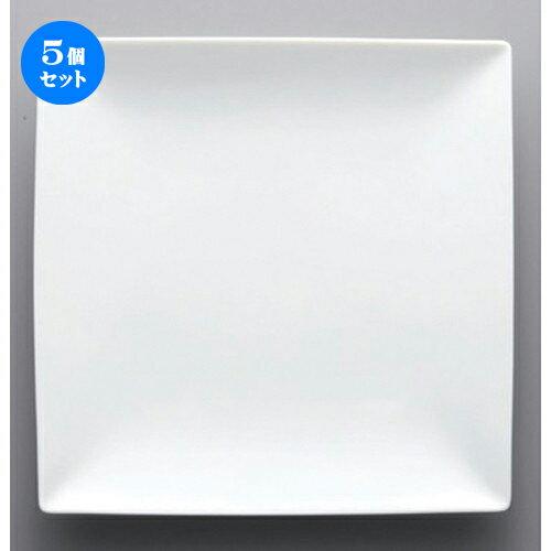 5個セット☆ ボーダーレススタイル ☆白磁8.0正角皿 [ 23.2 x 23.2 x 3cm 820g ]