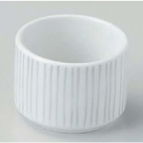 10個セット☆ 珍味 ☆白ストライプ切立盃珍味 [ 5.3 x 3.9cm (70cc) 68g ]