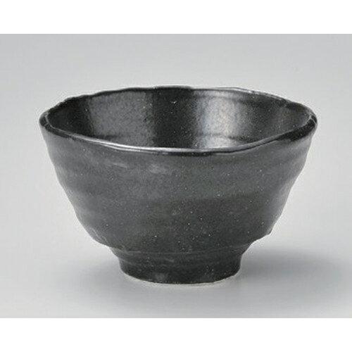 3個セット☆ 多用碗 ☆彫刻黒釉変型4.5丼 [ 14 x 8.5cm 410g ]