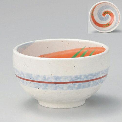 3個セット☆ 多用碗 ☆粉引風二色渦4.2多用碗 [ 12.8 x 7.8cm 390g ]