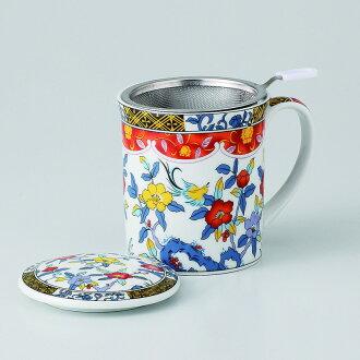 有啤酒杯茶杯蓋子的自由的啤酒杯(花鳥)[物品從屬于蓋子的啤酒杯x1/R8x9.5cm箱子:9.5x9.5x10.8cm]350g紙箱中國製造[餐具贈品裏面的祝賀漂亮]