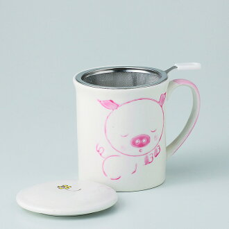 有啤酒杯茶杯蓋子的自由的啤酒杯(猪)[物品從屬于蓋子的啤酒杯x1/R8x9.5cm箱子:9.5x9.5x10.8cm]350g紙箱中國製造[餐具贈品裏面的祝賀漂亮]