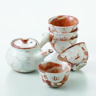茶具輪胎油茶茶壺茶具 [產品︰ 鍋 x1/R8x9cm,400 cc 1000 茶 x5/R9.2x5.4cm 框︰ 28 x22。 7 x 10.7 釐米,1250 g 糊盒美濃潔具禮品饋贈禮品在慶祝