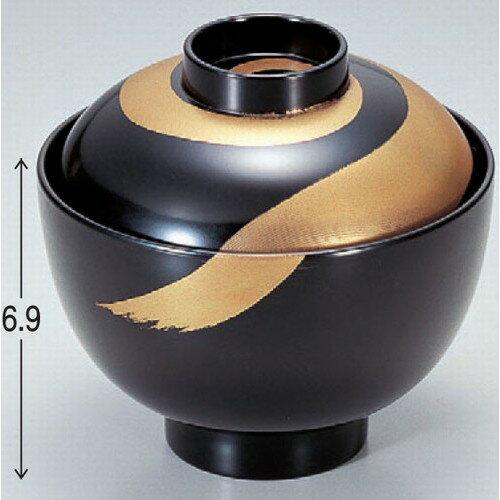 お椀 3.4寸小町吸椀黒月光 洗浄機可 [10.3φ x 9.8cm] 耐熱ABS樹脂 食洗機可 (7-195-13)